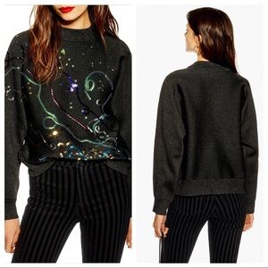TOPSHOP Christmas Party Popper Sweater